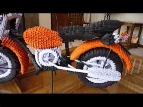 How To Make A Paper Motorbike - 3 d origami the of legos on a much smaller budget