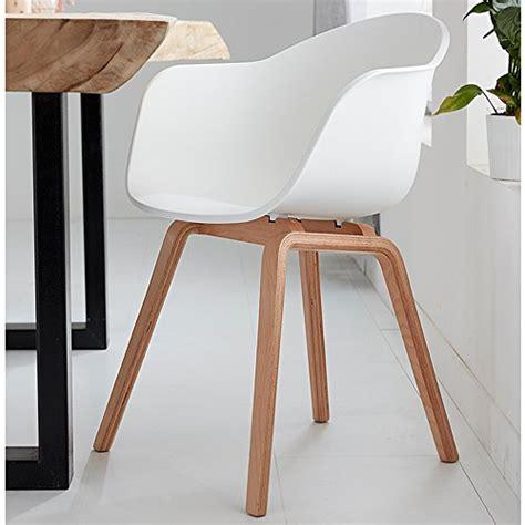 glänzender stuhl romeo lot de 4 chaises tendance r 233 tro blanches
