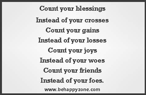 count your blessings inspirational poems and quotes from