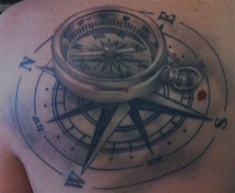 compass tattoo piece compass nautical back piece tattoo