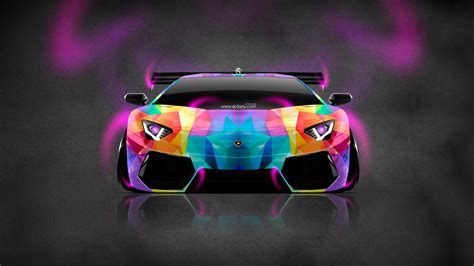 colorful car wallpaper lamborghini aventador neon aerography car 2014 el tony