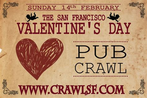 valentines day in san francisco s day san francisco pub crawl tickets 02 14 16