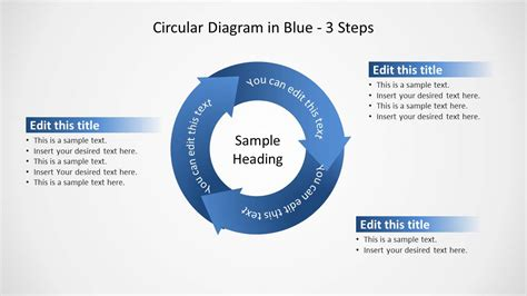 4 steps circular chevron powerpoint diagram slidemodel blue circular diagram 3 steps for powerpoint slidemodel