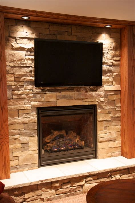Stone Fireplaces With Tvs North Star Stone Tv With Fireplace
