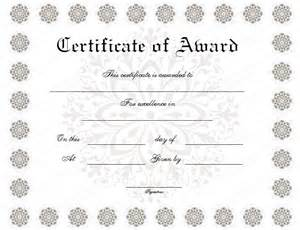 Formal Award Certificate Template by Formal Award Certificate Templates Blank Certificates