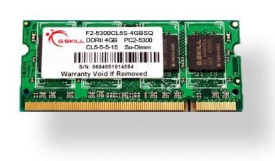 Ram Laptop Gskill 4gb g skill ddr2 pc2 5300 laptop memory module single 5 5 5 15 sq series