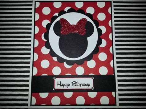 Handmade Minnie Mouse Birthday Cards - handmade minnie mouse birthday card