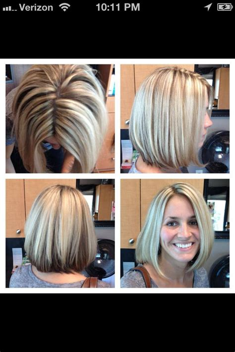 chuncky bob hair cuts chunky white blonde highlights and long bob haircut hair