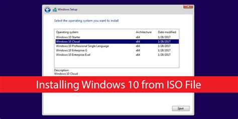 install windows 10 via iso how to install windows 10 from iso image file technig