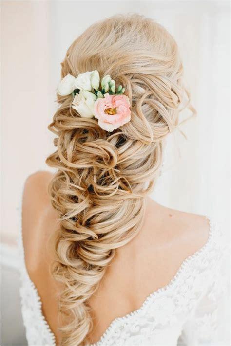 Hochzeitsfrisur Locken Blumen by 44 Sch 246 Ne Hochzeitsfrisuren F 252 R Lange Haare