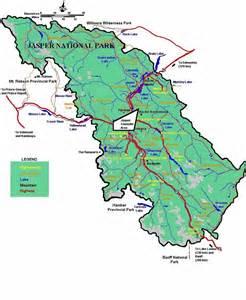 jasper national park canada map rocky s