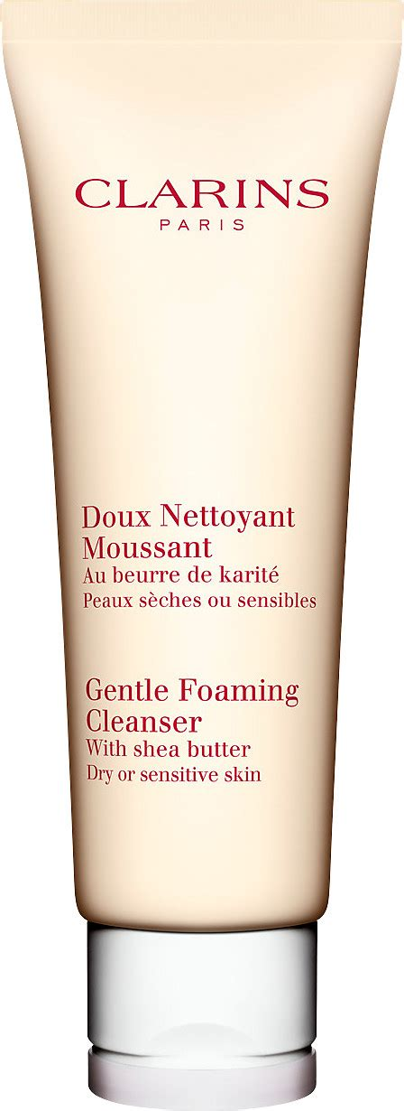 Clarins Gentle Foaming Cleanser Toning Lotion For Skin Set Clarins Gentle Foaming Cleanser With Shea Butter