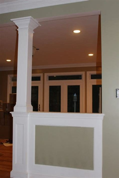 half wall with columns half wall column for the home galleries