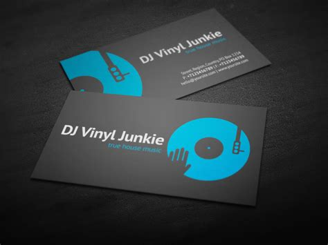 mobile dj business card template vinyl dj business card by iamvinyljunkie on deviantart