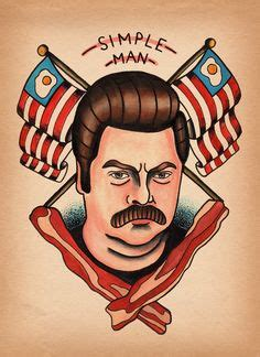ron swanson tattoo kitchen ideas diner freakshow on 117 pins