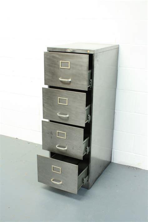 art metal file cabinet vintage polished steel 4 drawer art metal filing cabinet