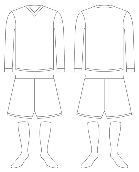 football design template shirt clipart football kit pencil and in color shirt