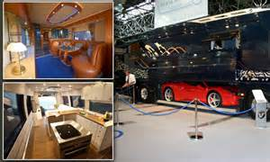 Rv Garage Home Plans The 163 1 2million Motorhome With A State Of The Art Kitchen