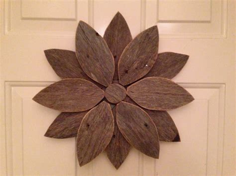 items similar to reclaimed wood items similar to wall flower reclaimed wood wreath