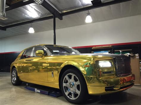 rolls royce ghost gold tuningcars gold chrome rolls royce phantom