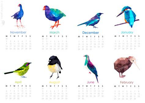 Calendar Shop Nz 2015 Calendar New Zealand Birds Geometric Prints