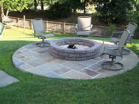 Patio With Firepit Pit Kits1 Home Design Ideas
