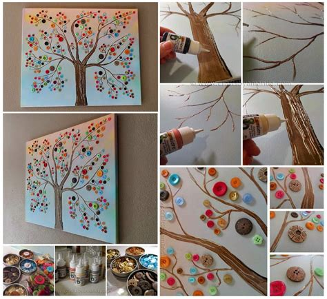 how to make wall decor at home how to make button tree wall pictures photos and