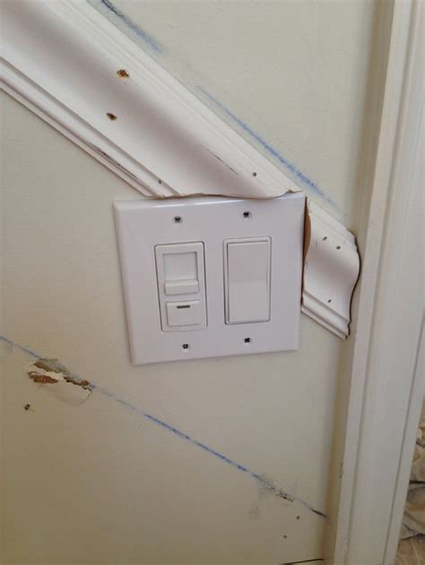 moulding around light switch crown molding