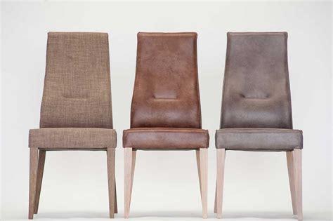 chaise en cuir marron enomia 4596