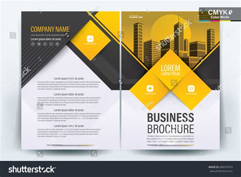 company profile cover design vector vector brochure layout flyers design template 스톡 벡터