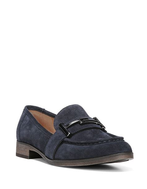 franco sarto loafers franco sarto baylor suede loafers in blue lyst