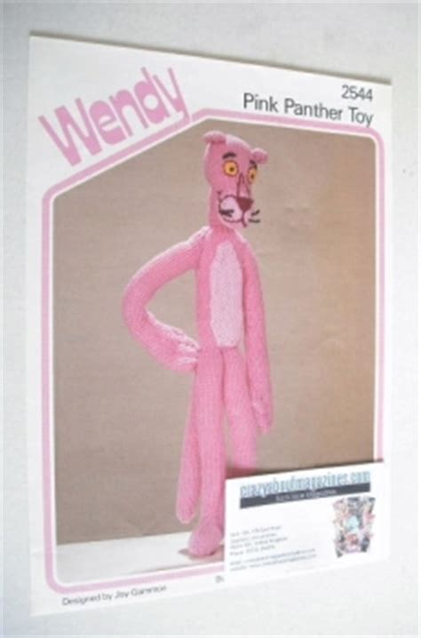 knitting pattern pink panther vintage toy knitting patterns buy old sweater and toy