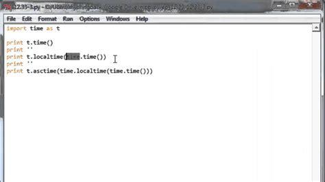 python tutorial time learn python programming tutorial 12 5 time module youtube
