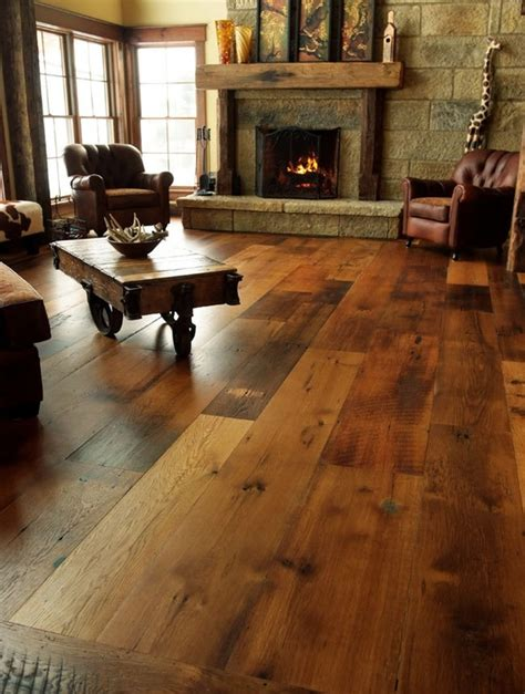 Wood Floor Decorating Ideas Rustic Modern Living Room Decor And Design Ideas