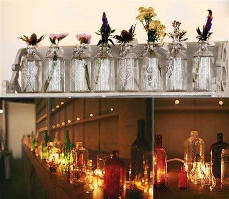 Vintage Glass Bottles ~ Ideas for Vintage Rustic Wedding