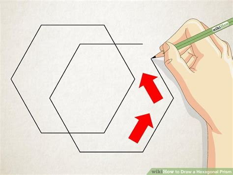 How To Make A 3d Hexagon Out Of Paper - 3 ways to draw a hexagonal prism wikihow