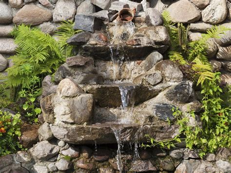 jardin fontaine fontaine exterieure jardin accueil design et mobilier
