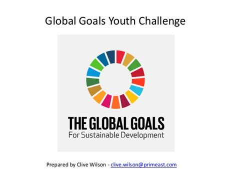 youth challenge global goals youth challenge march 2016
