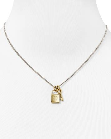 Marc Padlock Key Necklace by Marc By Marc Lock Key Pendant Necklace 17