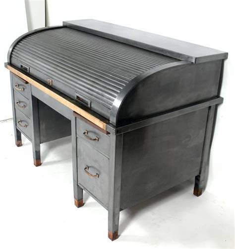 bankers desk for sale 1930s banker s metal roll top industrial desk for sale at