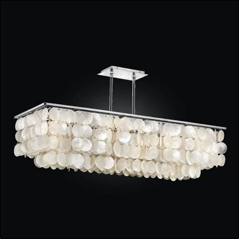 Rectangular Capiz Shell Chandelier Rectangular Capiz Chandelier Bay 634