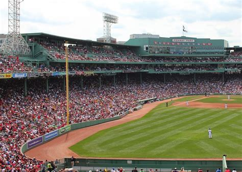 how many seats at fenway park seats in right field actually center home at