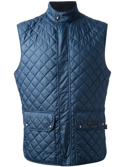 Patchwork Waistcoat - belstaff quilted waistcoat in blue for lyst
