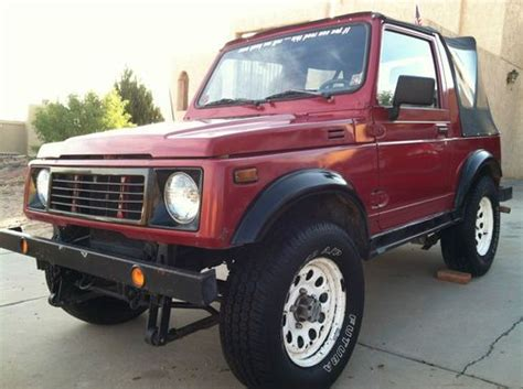 how cars work for dummies 1988 suzuki sj electronic valve timing buy used suzuki samurai 1988 soft top take a look no reserve auction in el paso