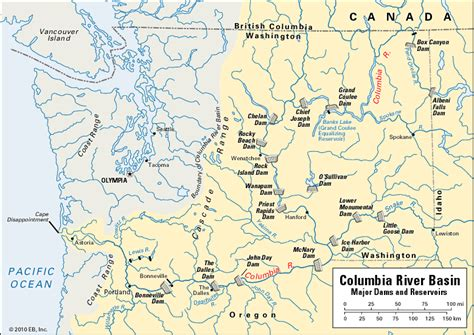 columbia river map columbia river location encyclopedia children s homework help