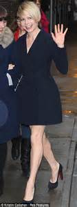 Michelles Arrives At Nyc Apt This Morning by Williams Is Simply Spell Binding In Stylish Frock