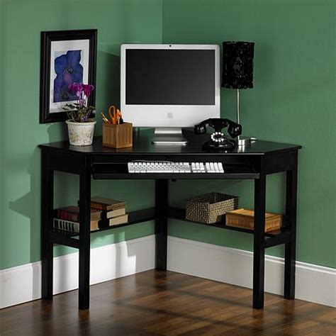 Corner Computer Desk Black Finish 6221914 Hsn Corner Black Computer Desk