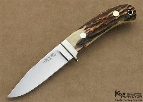 sr knifes s r johnson stag nickel silver utility knife
