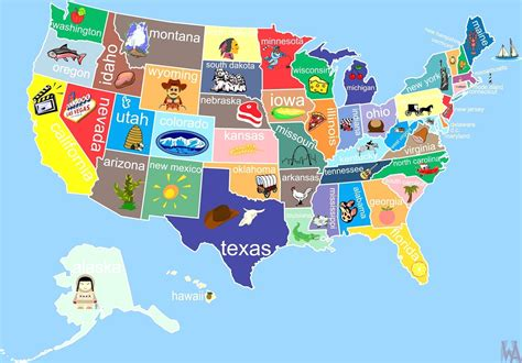 usa map state wise state wise major tourist attractions maps of the usa