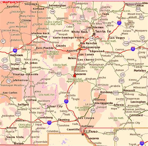 texas and new mexico map with cities map of new mexico road conditions counties cities map map of usa states